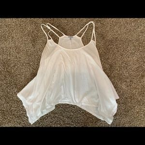 🌈5/$25🌈Charolette Russe White Flowy tank top M
